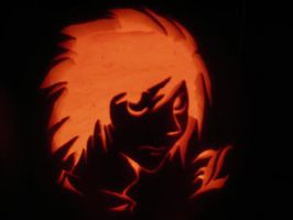 L Pumpkin lit up by Kawaii--Koneko