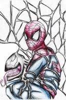 Spiderman venom entwined by Idigoddpairings