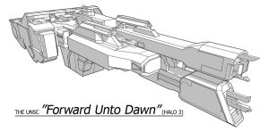 UNSC Ship - Forward Unto Dawn by Obhan