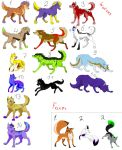 Wolf and Fox point adoptables by Adoptables-FalakWolf