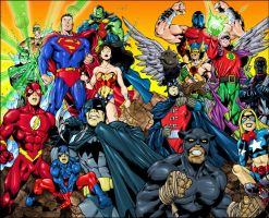 JLA and JSA by thisisanton