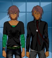 Me and My Brother as Anime Characters XD by TakaTakaNekoChan