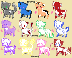 Kitty adopts (OPEN) 5 points each by Ex-Noah