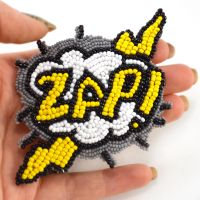Zap Comic Book inspired Beaded Hair Clip by Glamour365