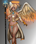 Fantasy Overwatch -- Mercy by S-C-Y-K-E