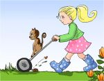 In the garden - grass cutting by StinaWiik