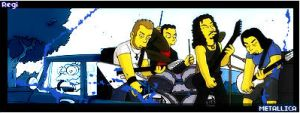 Metallica as the Simpsons by silencedridicule
