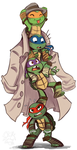 Turtles in a Trenchcoat by sharkie19