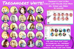 Taeyeon IGAB Circle Lines Folder Icon Pack by Rizzie23