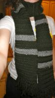 Slytherin Scarf by Bwabbit