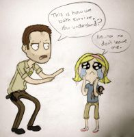 RickandSophia - TheWalkingDead by Squishy-Mew