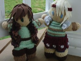 Hiccup and Astrid by knitty1121