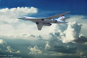 Tu-160  (White Swan) by Distantstarr