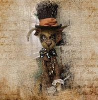 The Mad Hatter inspired Creepy Cat Felix by VeronikaLozovaya