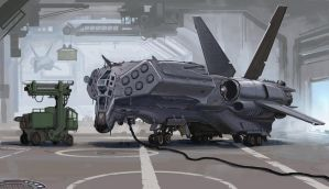 Strike Fighter WIP by BenWootten