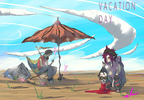 Vacation Day by TheGrimMeanie