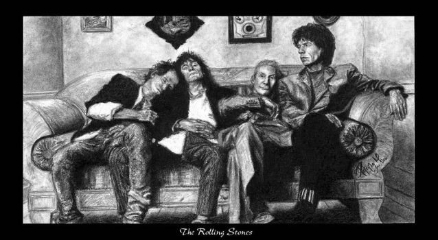 The Rolling Stones by slvr-eyes