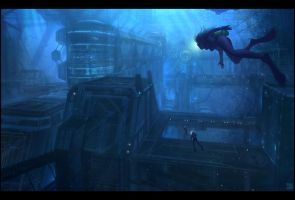 Underwater Facility by Hideyoshi