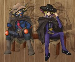 Sneak Preview Crash Town: Yusei and Yami by Lat3mur