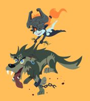 Link and Midna by Phobos-Romulus
