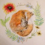 Sleeping with foxes by pandaloverlol