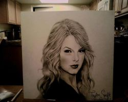 Taylor Swift drawing by EmileBarkchip