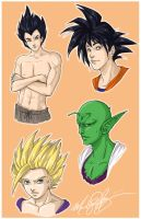 DBZ set One by Mandy-Mo