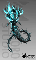 Shadowing Wither - Minecraft Creature Concepts by Kanoro-Studio