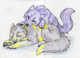 Wolf cubs by WekeWolf