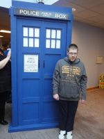 me by the tardis by MightyMorphinPower4