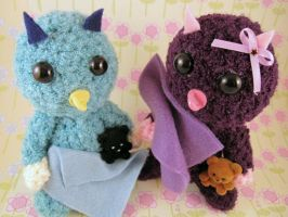 Amigurumi Baby Monster Buddies by AmiTownCreatures
