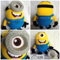 Minion by Mirtha Amigurumis by MirthaAmigurumis