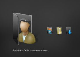 Black Glass Folders by jrdnG