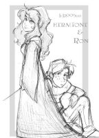Herm and Ron all wistful by lberghol