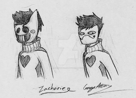 Traditional: Zacharie sketches by GingaAkam