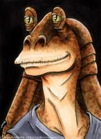 Jar Jar Binks by Vani-Fox