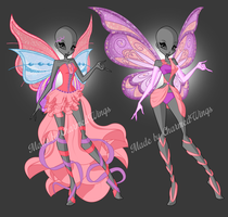 SOLD: Winx Club - Outfit + wings adoptables by CharmedWings