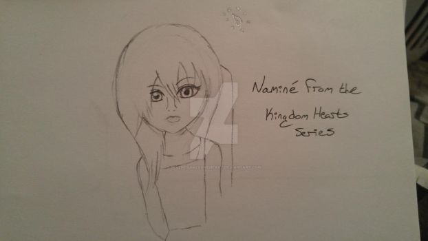 Quick Sketch: Namine, Kingdom Hearts Franchise by sevenequalsoneheart