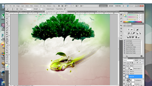 Oddles of Apples (car ad)- Unfinished. by Tyggerton