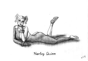 Pinup no 6 Harley Quinn by CCGTheArtist