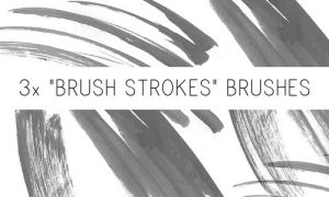 Brush Strokes Brushes by PinkMai