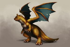 Realistic Dragonite by TeaDino