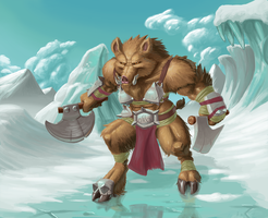 Boar Warrior of the North by Mick-o-Maikeru