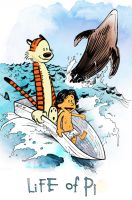 Life of Pi meets Calvin and Hobbes by seandouglasmcardle