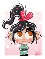 Chibie Vanellope from Disney's Wreck-It Ralph by princekido
