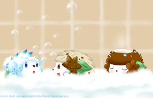 Bathtime buddies by Karrotcakes