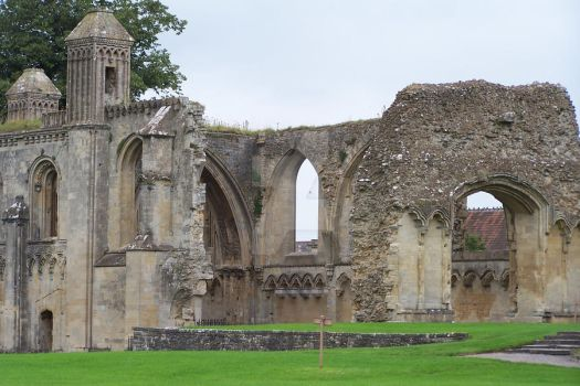Glastonbury Abbey 5 by WiccanGodess