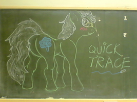 Chalk Pony: Quick Trace by WestWinter