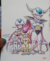 colored pencil Frieza's family by frieza-love