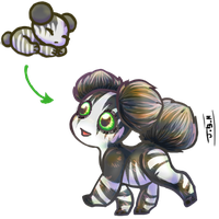 Banded Asteroid Puppy Adopt for Scifishinigami by Jesseth